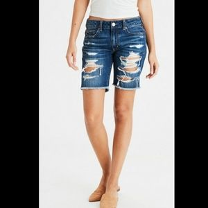 New AEO Destroyed Slouchy Bermuda Short